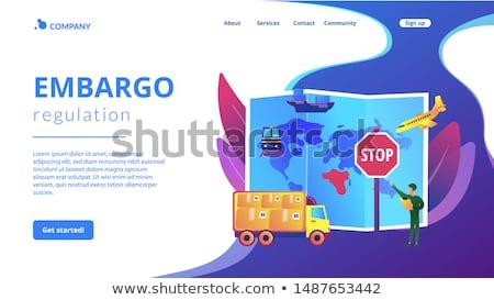 Embargo regulation concept landing page Stock photo © RAStudio