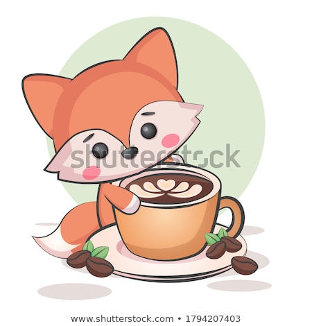 Cute vos poster vector eps 10 Stockfoto © rwgusev
