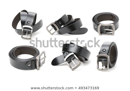 Kemer toka siyah beyaz stüdyo destek pantolon Stok fotoğraf © yakovlev