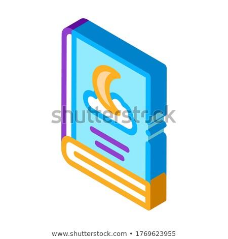 Book Night Sleep Story isometric icon vector illustration Stock photo © pikepicture