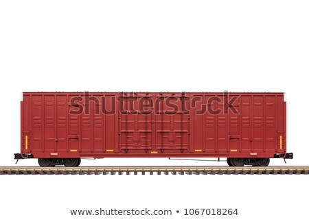 Red Railroad car door Stock photo © bobkeenan