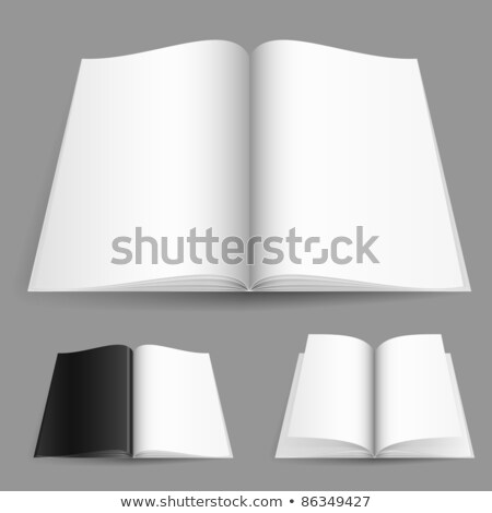Stock photo: Realistic magazine set number one
