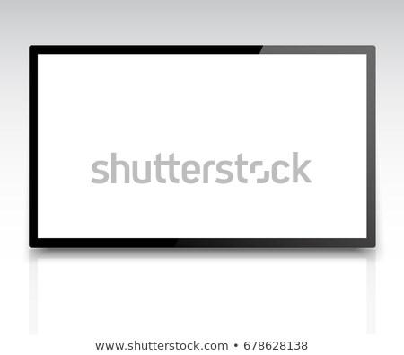Czarny LCD Widok 3D świadczonych ilustracja Zdjęcia stock © Spectral