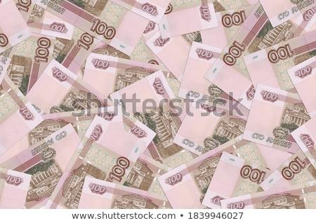 Background of money pile 100 russian rouble bills Stock photo © boroda