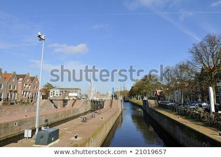 Holland piccolo mare acqua edifici architettura Foto d'archivio © ivonnewierink