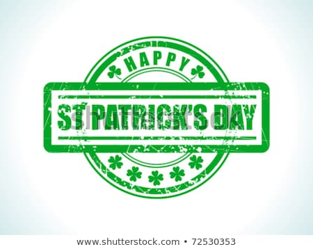 abstract st patrick stamp Stock photo © pathakdesigner