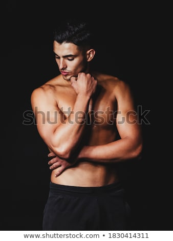 Muscular homem jovem africano americano homem negro camisas Foto stock © piedmontphoto