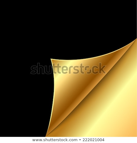 curled gold corner Stock photo © gladiolus