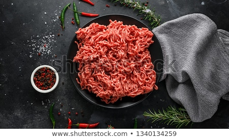 Ground Beef background Stock photo © ozaiachin
