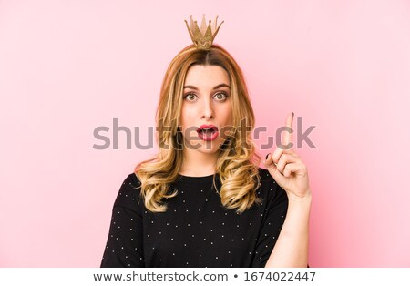 portrait of young woman with crown stock photo © phbcz