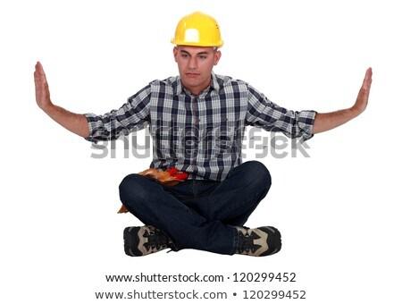 Artesano sesión meditación posición cara ejercicio Foto stock © photography33