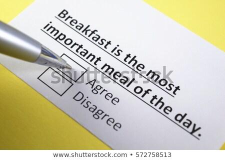 Café da manhã importante refeição dia flocos de milho pronto Foto stock © danielgilbey