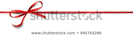 red ribbon and bow background  Stock photo © illustrart