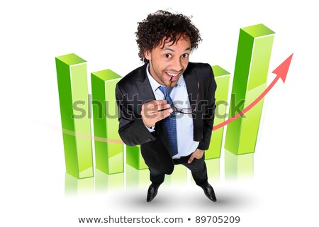 Man stood by 3D graph Stock photo © photography33