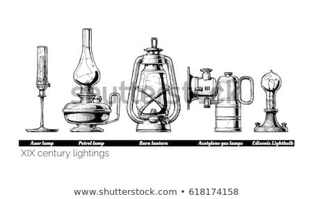 Vintage Kerosene Gas Lamp  Stock photo © Kuzeytac