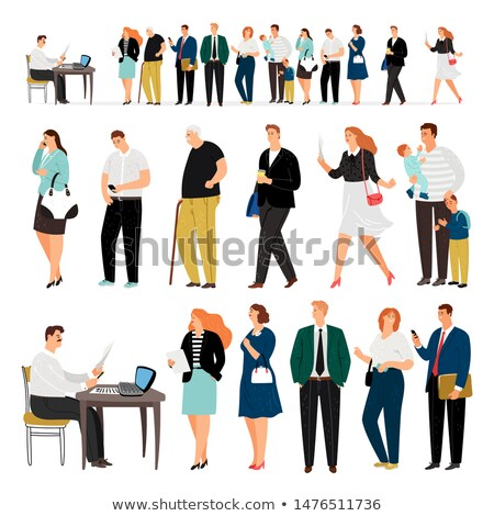Entediado loiro recepcionista escritório caneta laptop Foto stock © photography33