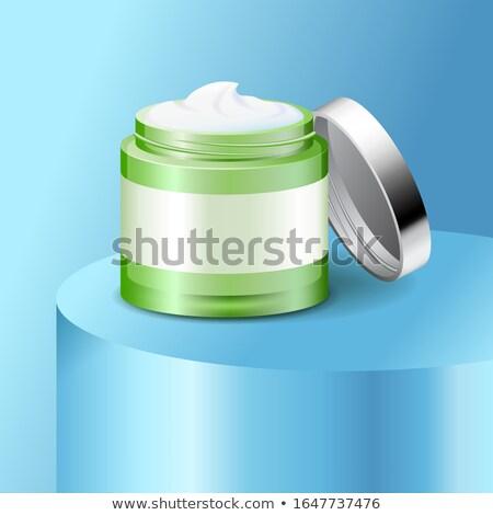 Open Jar Of Cream With Cap Stok fotoğraf © MarySan
