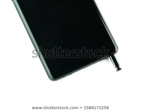 черный · смартфон · изолированный · белый · большой · экране - Сток-фото © Nobilior