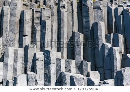 bazalt · oszlop · képződmény · fekete · Izland · közelkép - stock fotó © wildnerdpix