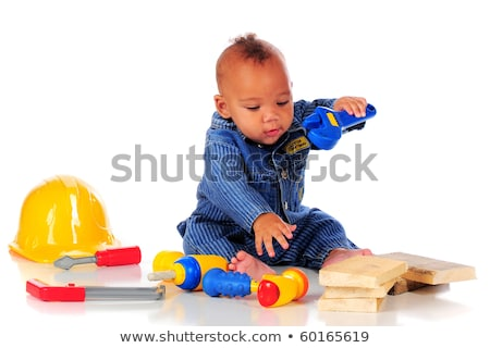 child playing with a toy drill stock photo © photography33