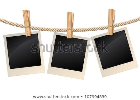 Stockfoto: Witte · voorjaar · metaal · witte · achtergrond · close-up · houten