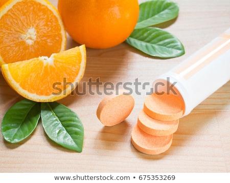 Vitamins pills soluble in water Stock photo © deyangeorgiev
