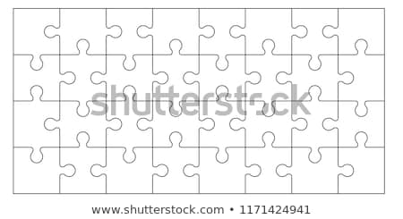 Vector puzzel Rood patroon spel idee Stockfoto © krabata