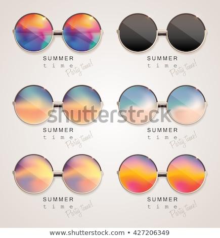 Mirrored glasses stock photo © disorderly