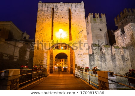 medieval castle on lake garda in sirmione northern italy stock photo © anshar