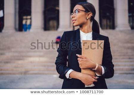 Foto stock: Mulher · jovem · mulher · de · negócios · grande