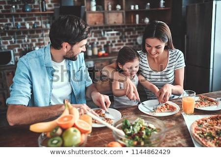 familie · vers · sinaasappelsap · liefde · vrouwen · glas - stockfoto © dotshock