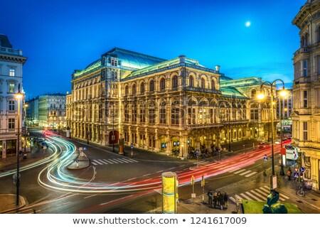 Wenen opera gebouw stad stad Stockfoto © LianeM