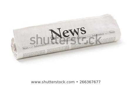 újság · boglya · rendkívüli · hírek · összehajtva · egymásra · pakolva · újságok - stock fotó © deyangeorgiev