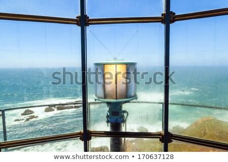 salvavidas · torre · puesta · de · sol · playa · California · rosado - foto stock © meinzahn