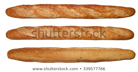 One fresh baguette on white background  Stock photo © tarczas