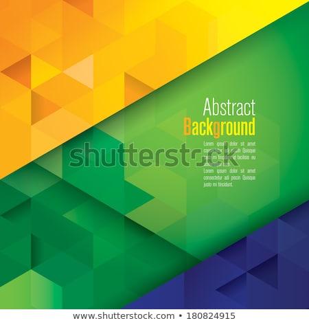 Abstrakten geometrischen Brasilien Flagge Datei Gradienten Stock foto © norwayblue
