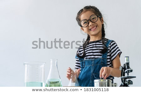 Cute little scientist Stock photo © Anna_Om