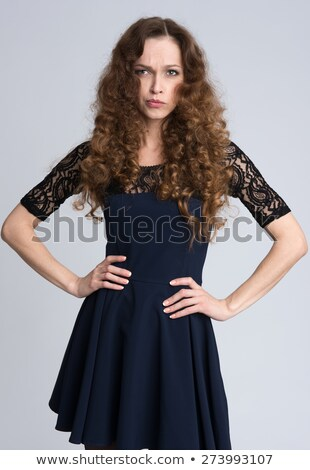 Beautiful woman with long hair, shot with a snoot Stock photo © tommyandone
