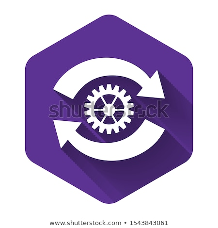 Settings Circular Vector Purple Web Icon Button Stock photo © rizwanali3d