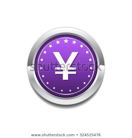 Yen Currency Sign Circular Vector Purple Web Icon Button Stock photo © rizwanali3d
