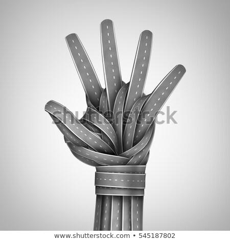 Stop Sanctions on Open Hand. Stock photo © tashatuvango