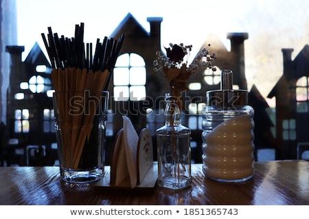 ドリンク 木製のテーブル ガラス レモン フルーツ 表 ストックフォト © compuinfoto
