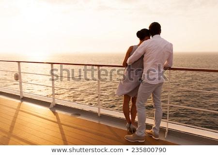 Coppia crociera illustrazione Ocean barca genitori Foto d'archivio © adrenalina