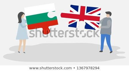 United Kingdom and Bulgaria Flags in puzzle Stock photo © Istanbul2009