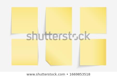 Six empty  post it stock photo © fuzzbones0