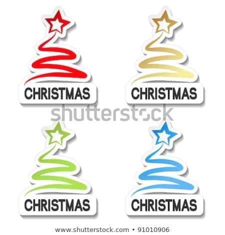 christmas offer green vector icon button stock photo © rizwanali3d