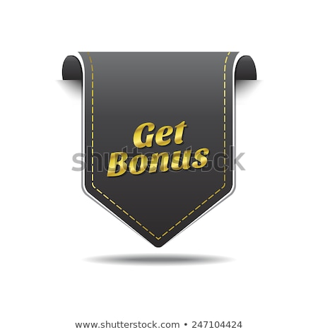 Get Bonus golden Vector Icon Design Stock photo © rizwanali3d