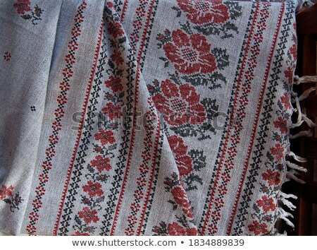 Embroidery fabric handcraft art tablecloths Stock photo © lunamarina