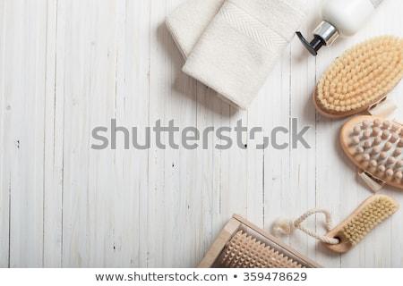 massage brush on the white background stock photo © shutswis