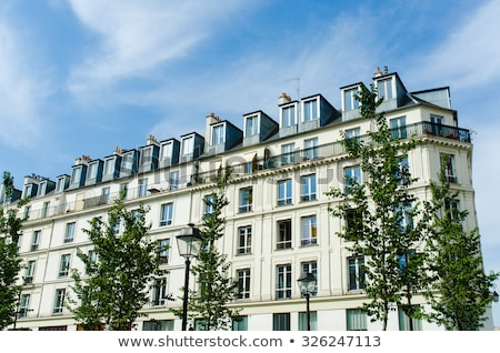 典型的な · パリジャン · アーキテクチャ · フランス · タウン · パリ - ストックフォト © elnur